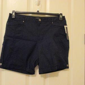NWT - COUNTERPARTS Navy blue shorts - sz 14 - $40.